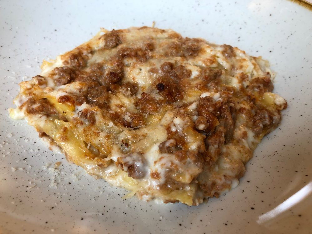 Trattoria Visconti, lasagne con ragu' d'anatra