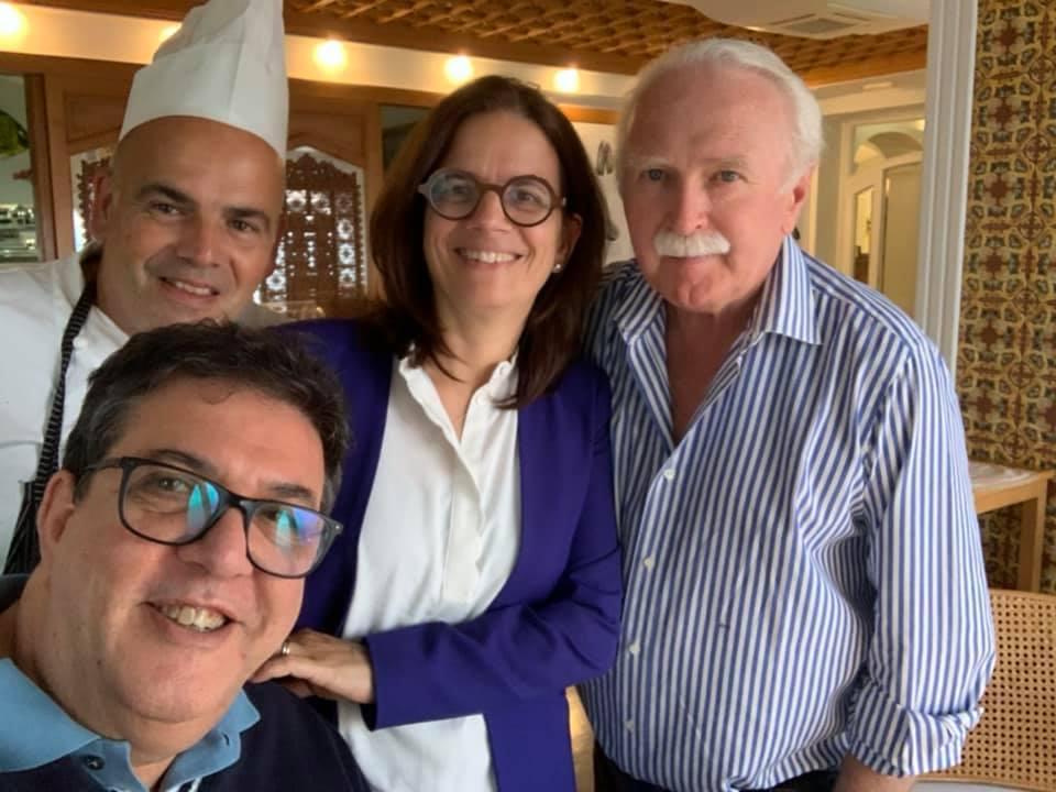 Taverna del Capitano: Alfonso e Mariella Caputa con me e Lord Barendson
