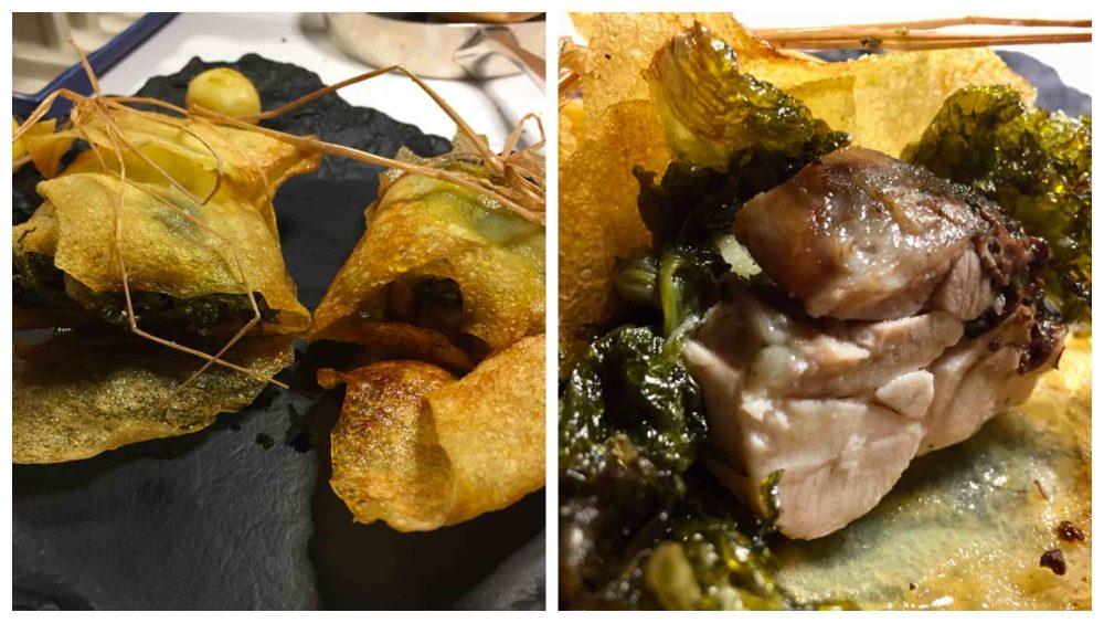 Taverna del Capitano, pollo patate e scarola