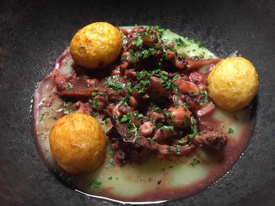 Taverna del Capitano, totani e patate