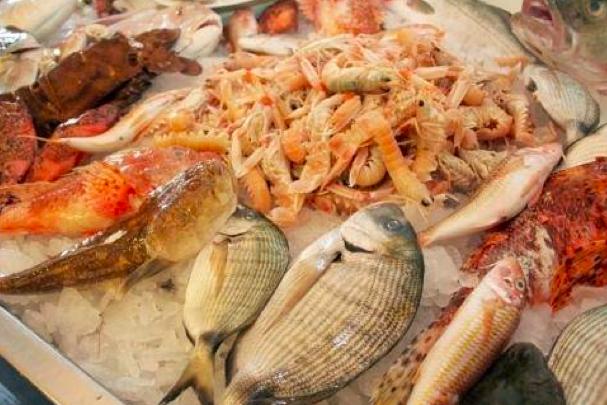Al gambero, bancone del pesce