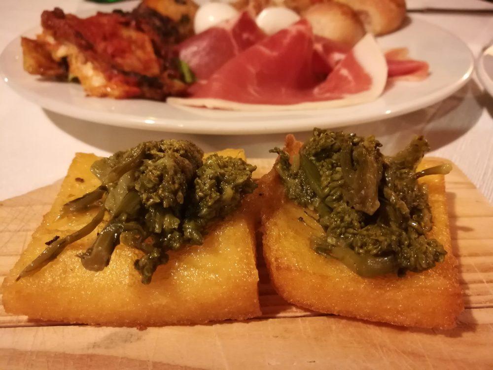 Alle Falde del Taburno - La Polenta fritta con i Broccoli