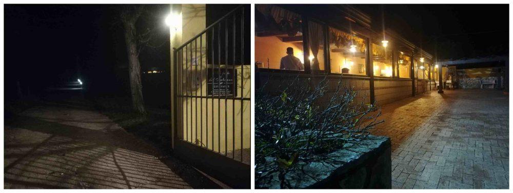 Alle Falde del Taburno - il viale d'ingresso e la sala con veranda