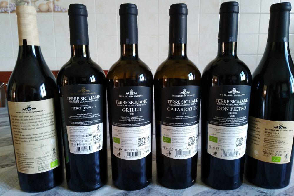 Controetichette vini di Spadafora