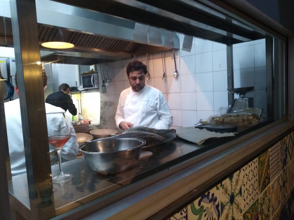 Davide Mea in cucina