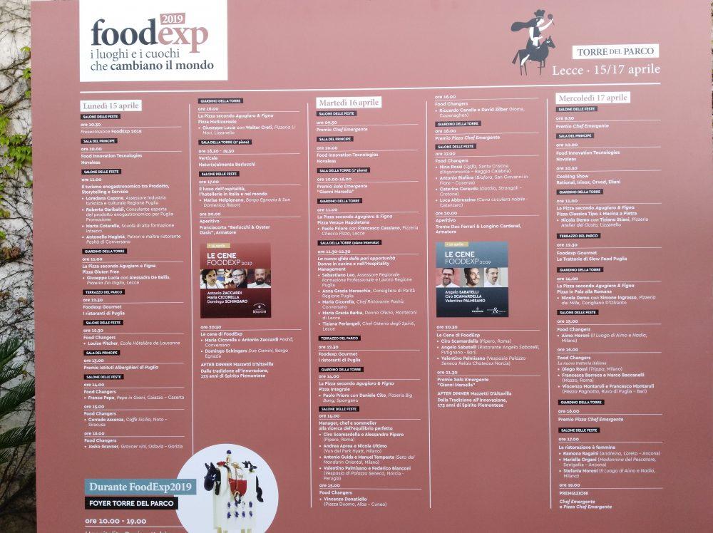 FoodExp 2019 Programma completo della manifestazione