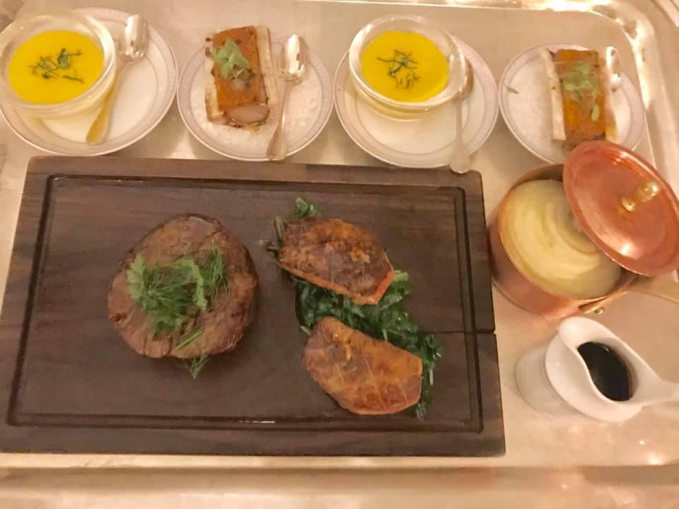 Il Palagio - Chateubriand con scaloppa di foie gras, salsa bernese, midollo e puree