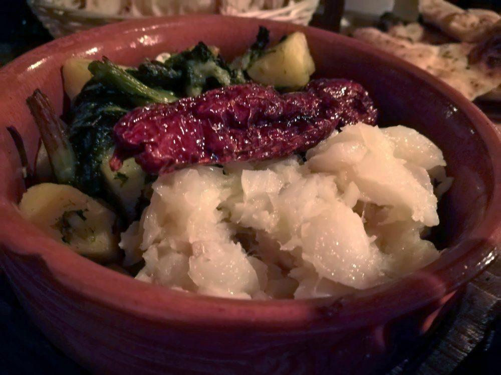 La Terrazza - Il Baccala' con Broccoli, Patate e Peperone crusco