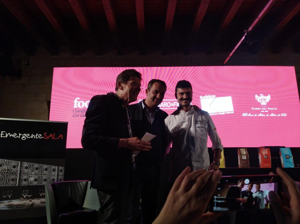 Luigi Cremona e Giovanni Pizzolante con lo Chef Emanuele Frisenda