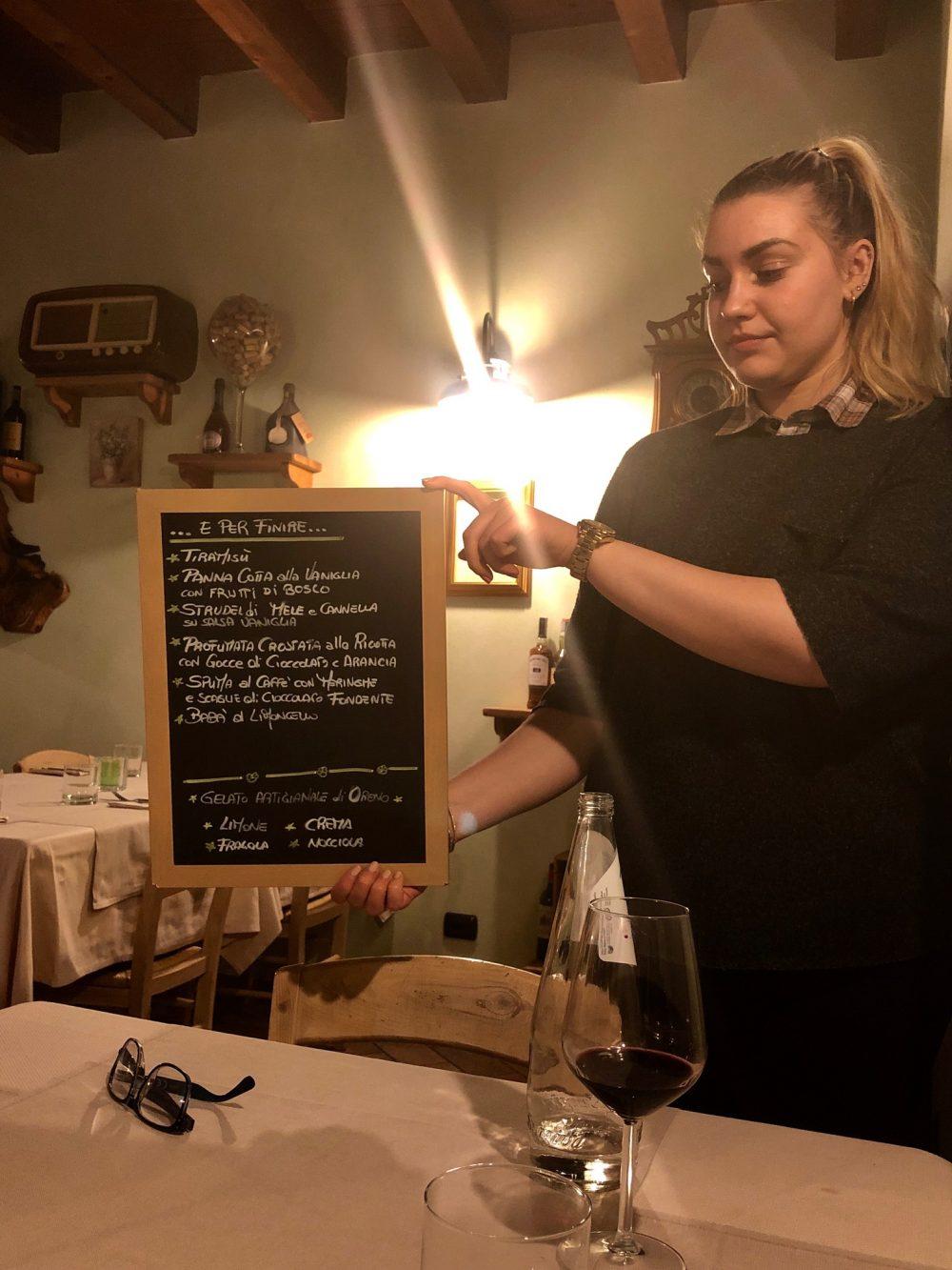 Osteria Robebuone, la gentile collaboratrice di Alice e Francesco
