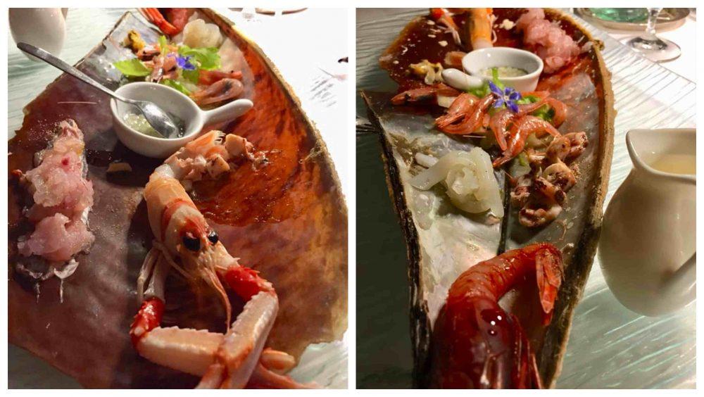 Taverna del Capitano, l'insalata di crudo
