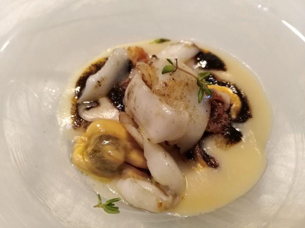 Taverna del Mozzo Fagioli di Controne, cozze e seppia scottata