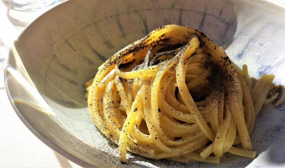 Giglio, Linguine affumicate, ostriche e agrumi