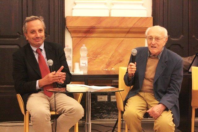 L'ingegnere Leonardo Mustilli con il professore Luigi Moio