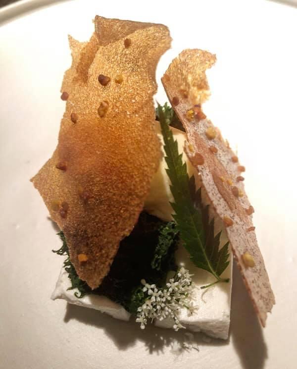 L'Argine, Semifreddo di ricotta, gelato di polline e miele