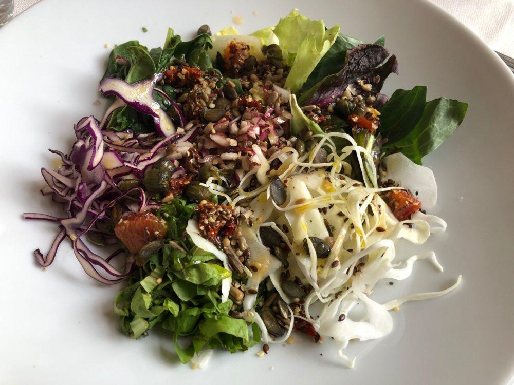 L'insalata nel piatto