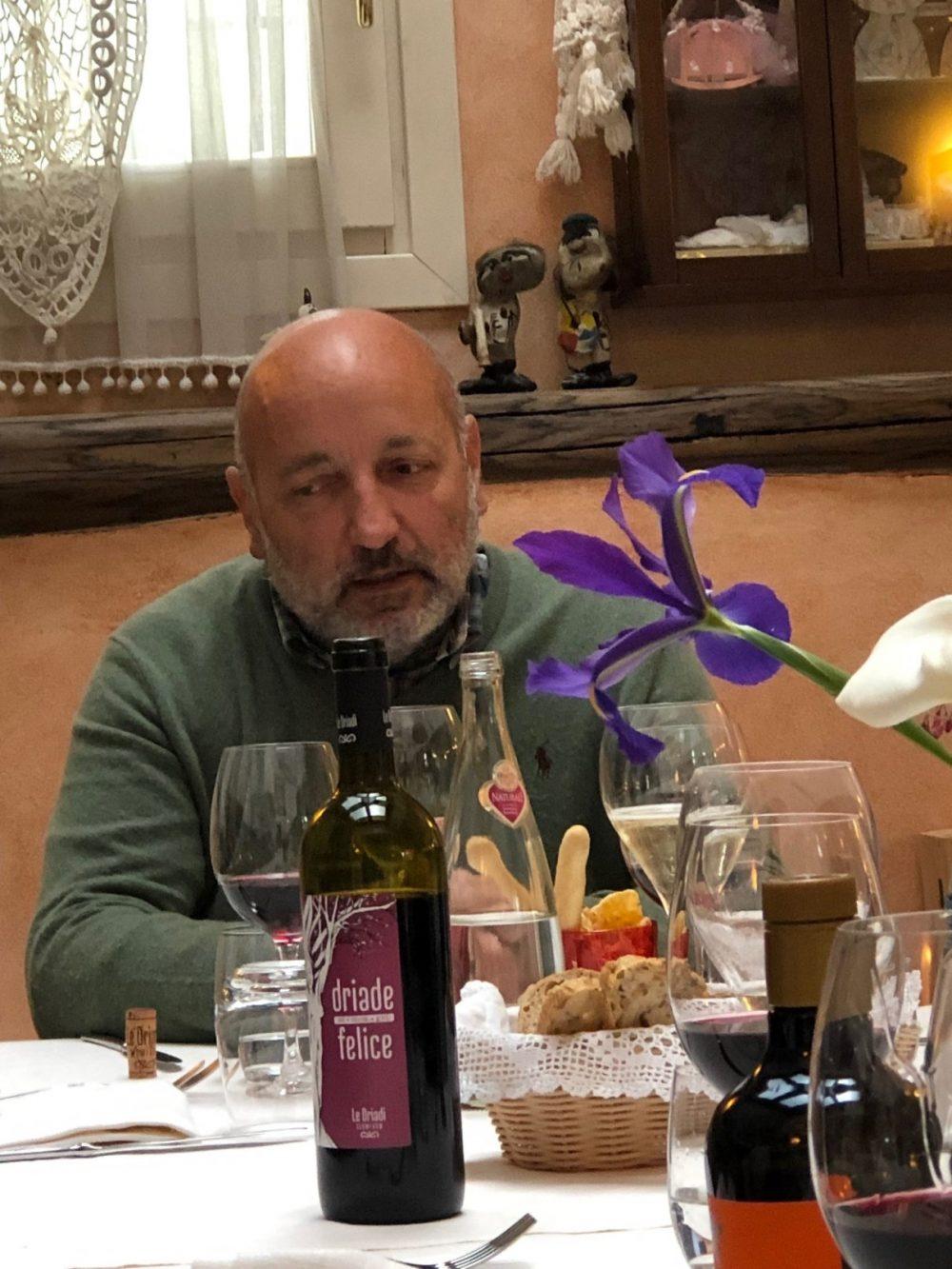 Luciano Chenet il produttore dell'Azienda Agricola Le Driadi