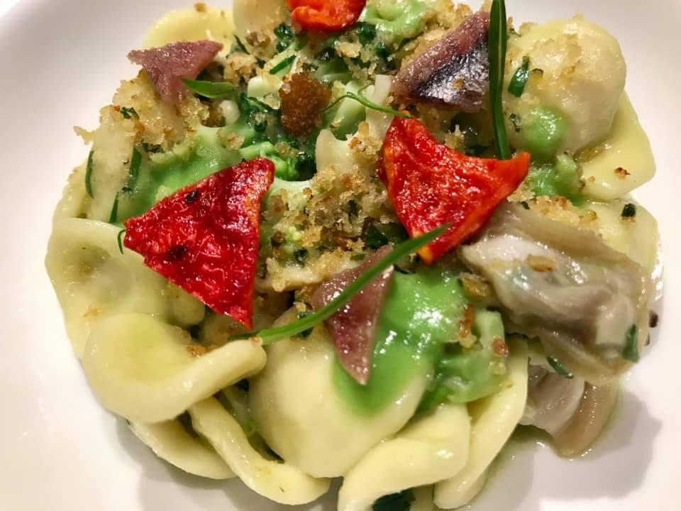 Don Alfonso a Lavello - orecchiette con broccoli, colatura di alici e frutti di mare
