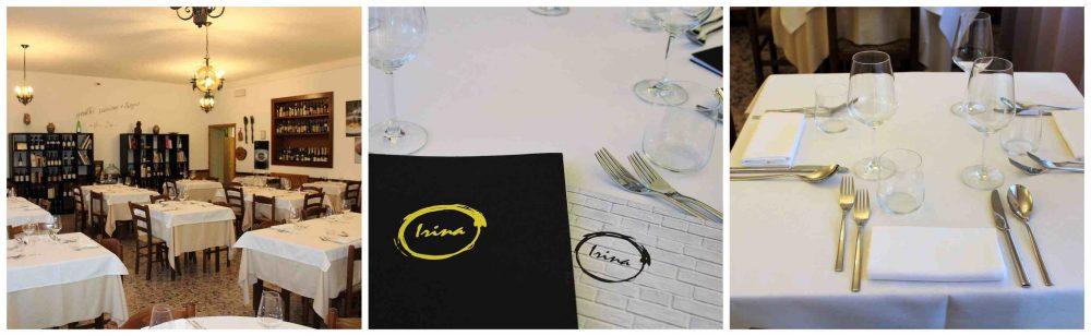 Irina Trattoria – sala e tavola