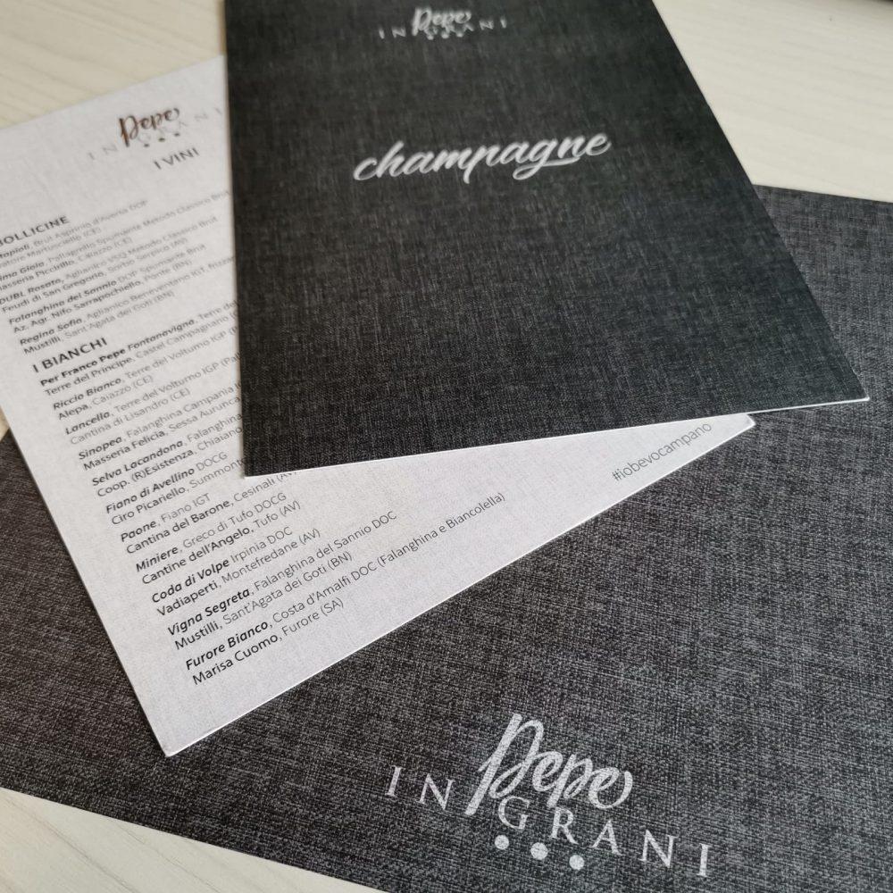 Carta vini e champagne Franco Pepe