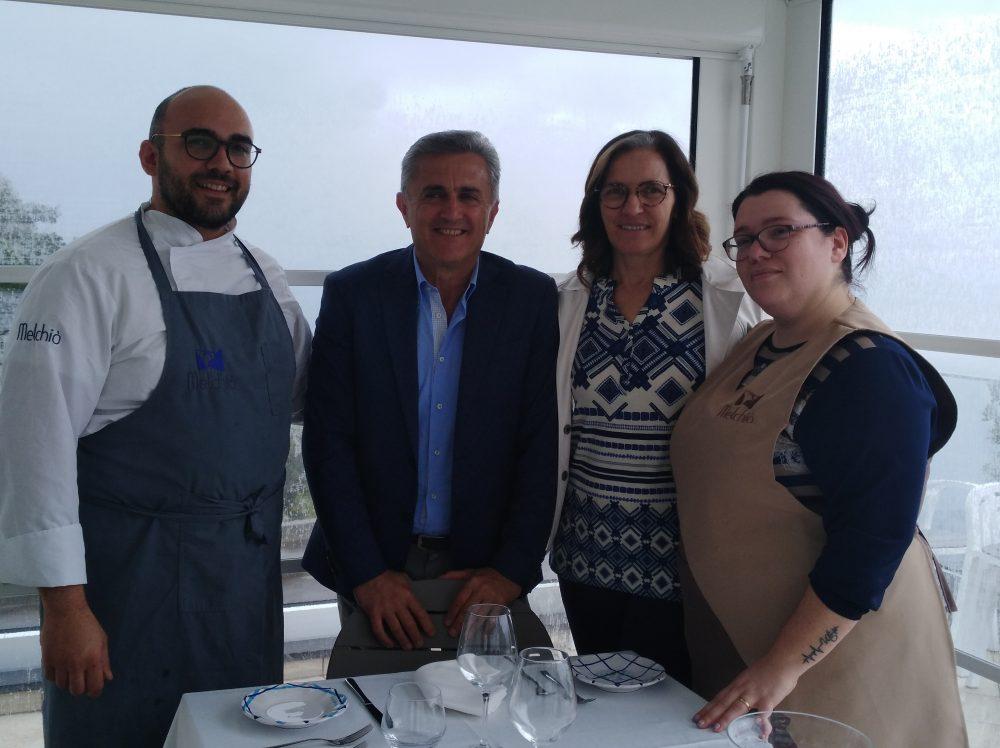 Chef Vito con la moglie Caterina e Andrea Ferraioli e Marisa Cuomo