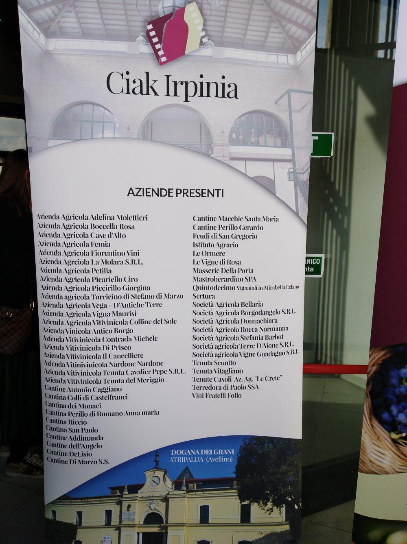 Ciak Irpinia - Elenco aziende partecipanti