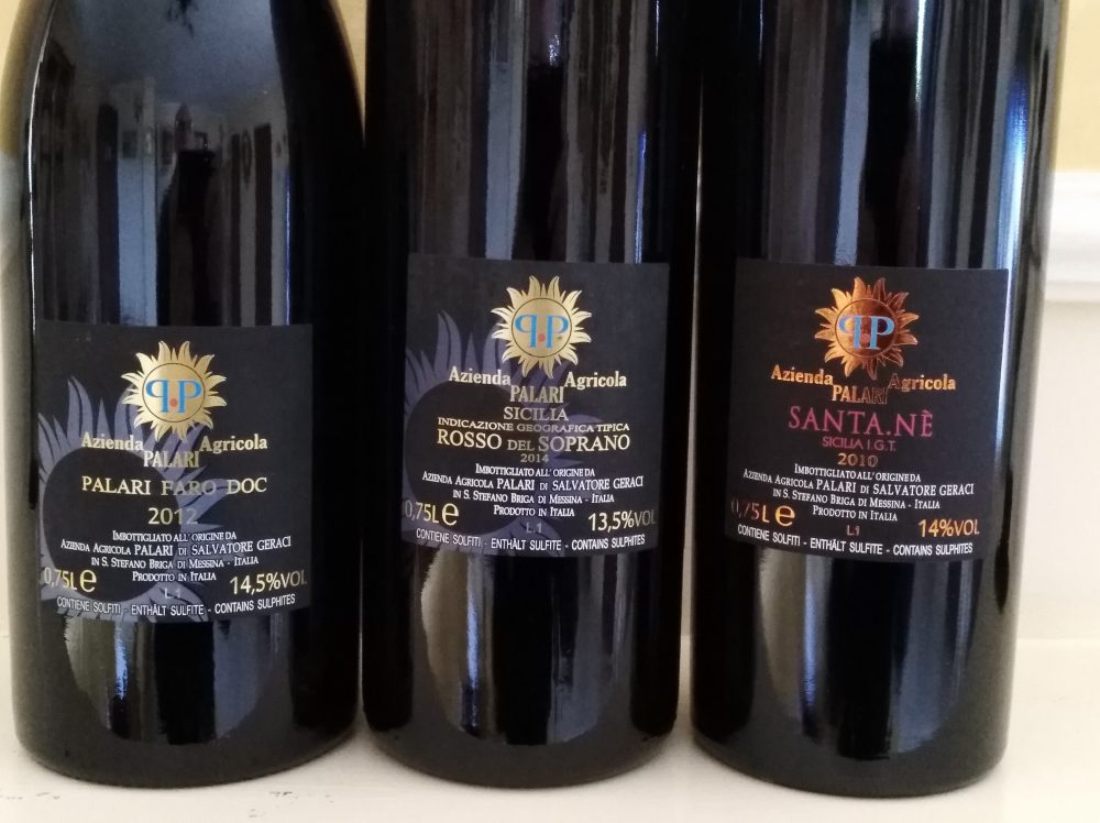 Controetichette vini Palari