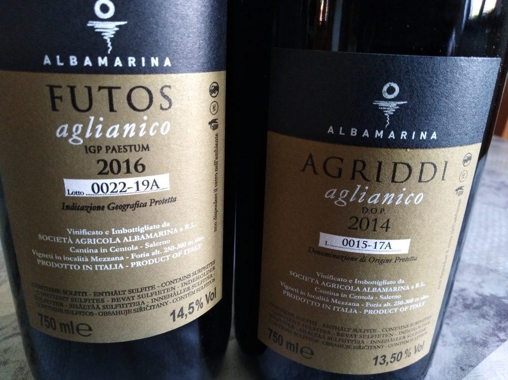 Controetichette vini rossi Albamarina