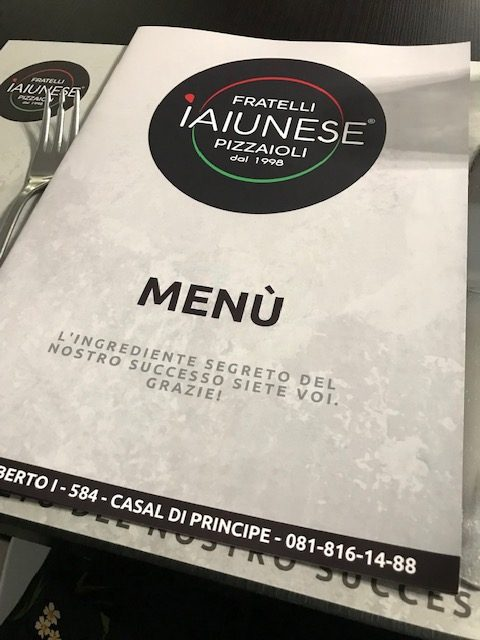 Fratelli Iaiunese Pizzeria dal 1998 - Menu'