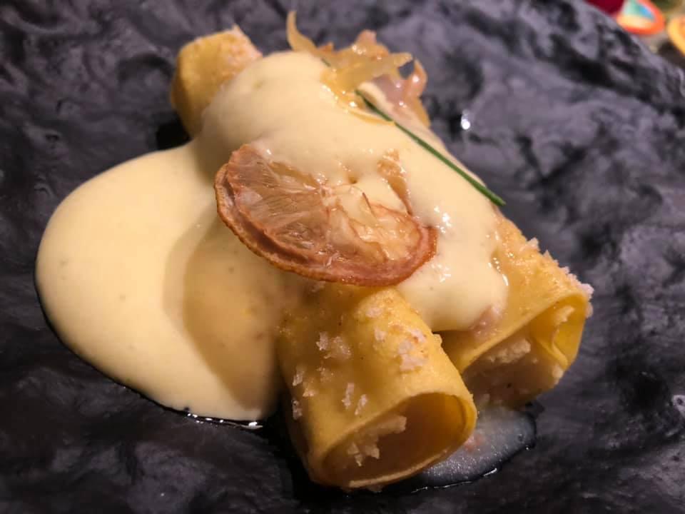 NH Collection Grand Hotel Convento di Amalfi, il cannellone con congole, crema di patate e spuma di limoni di Amalfi