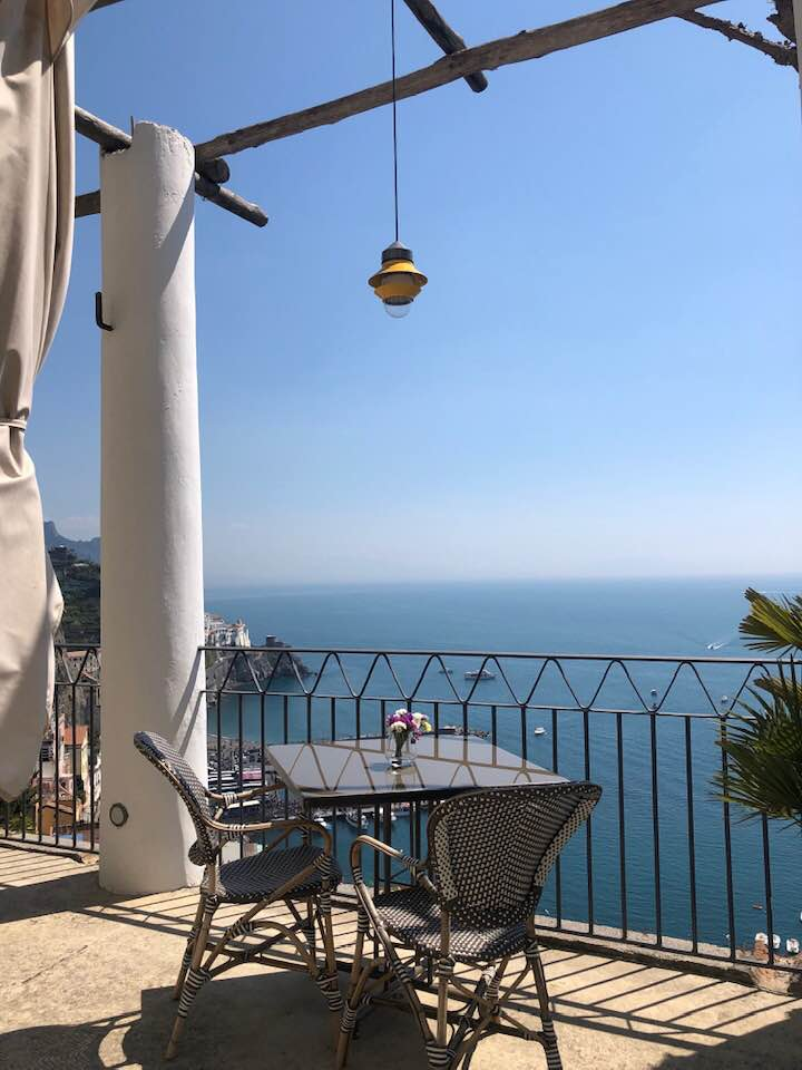 NH Collection Grand Hotel Convento di Amalfi, un angolo per ammirare il mare