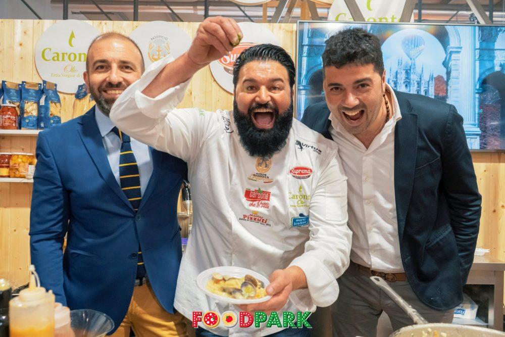 Peppe Di Napoli, della Pescheria Di Napoli, mattatore di Food Park
