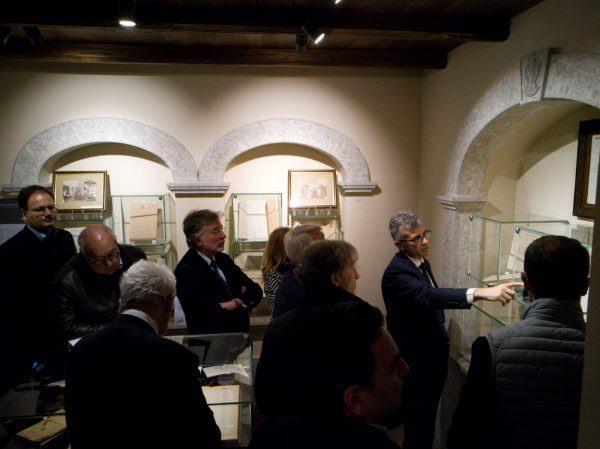 Un momento dell'inaugurazione del MIMA con Piero Mastroberardino