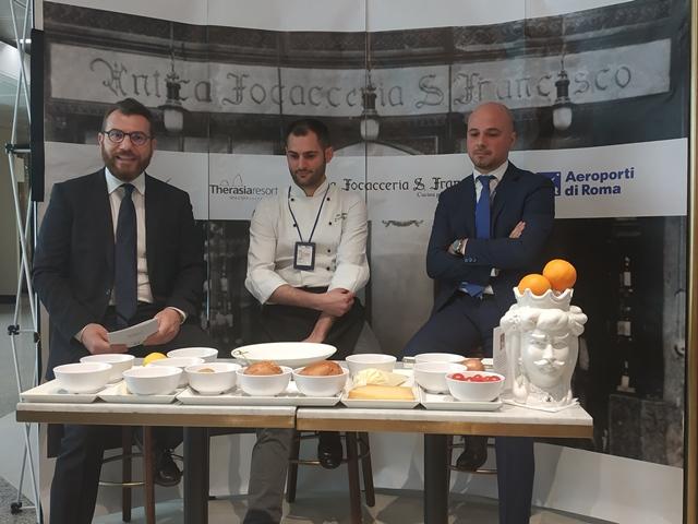 Vito Brunetti, lo chef Biuso e Domenico Valente