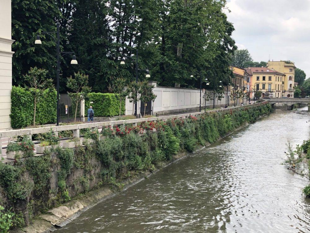 Il fiume Lambro nei pressi della Trattoria