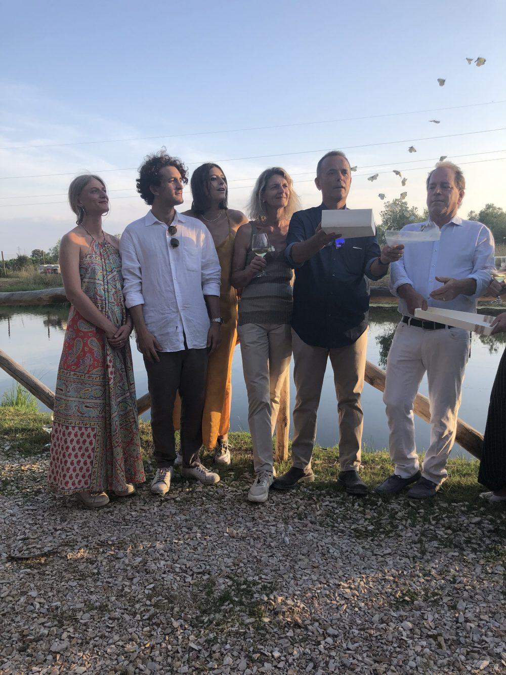 La famiglia Casadei con Fred Cline