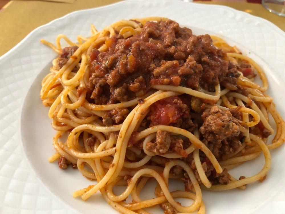 Spaghetti al ragu'