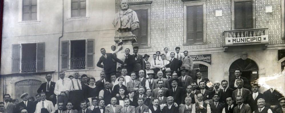 1925 i soci della cooperativa Garibaldi, foto di Fabrizio Radaelli