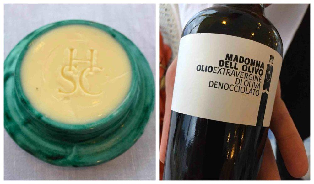 Il Glicine, Hotel Santa Cateria Amalfi, burro e olio