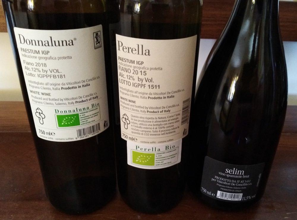 Controetichette vini di De Conciliis