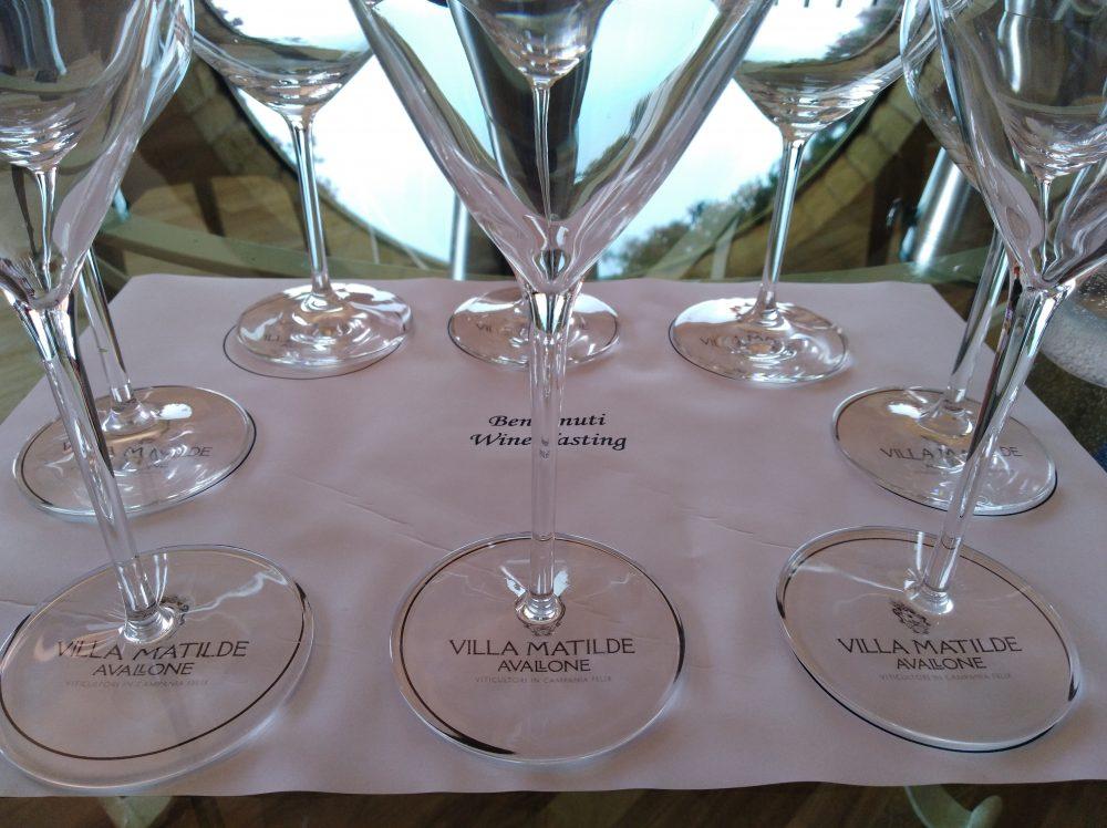 Degustazione dei vini di Villa Matilde Avallone