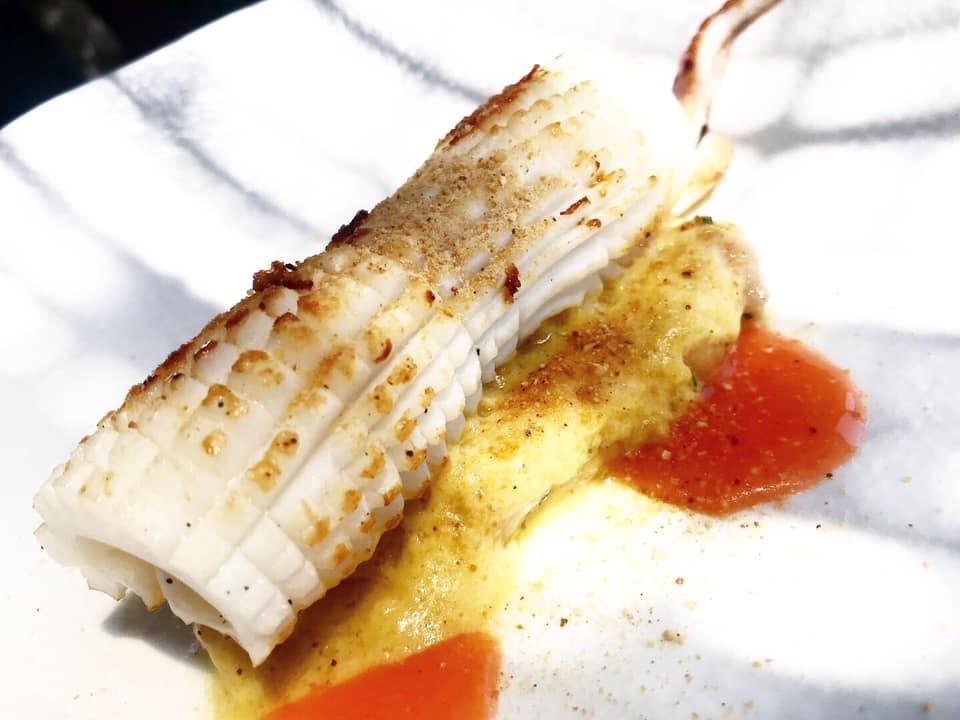 Da Tonino - Calamaro, Ceci, Scalogno affumicato e Pompelmo