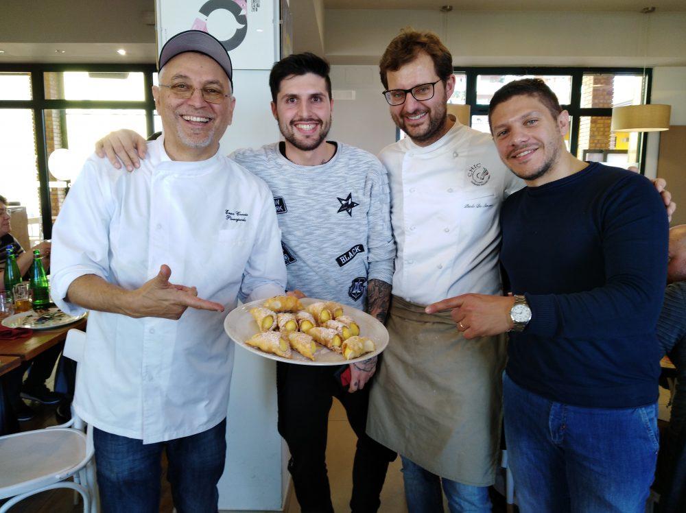 Michel Greco con Enzo Coccia, Paolo De Simone e Francesco Pellegrino