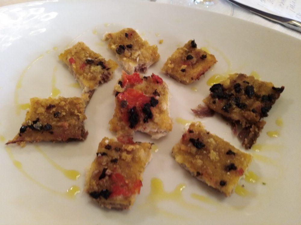 Trattoria La Vinaigrette Pesce spada gratinato, pomodorini e olive nere