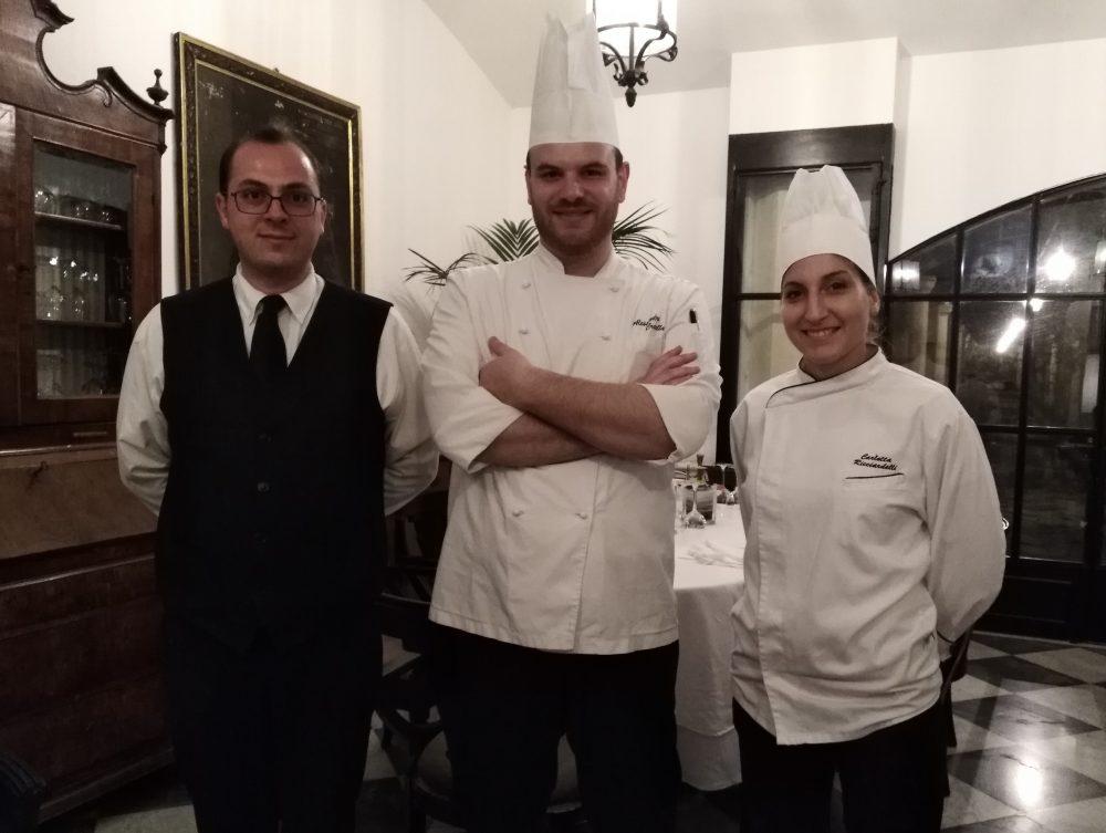 da sx Matteo Fraboni, Alessandro Cretella e Carlotta Ricciardelli