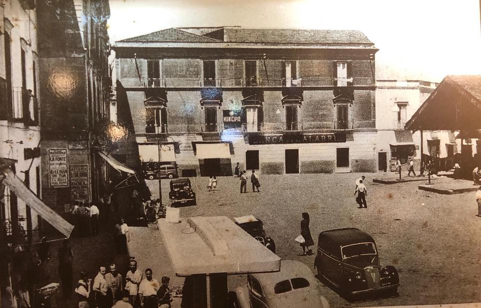 Le Tre Arcate, Piazza Cota negli anni Cinquanta
