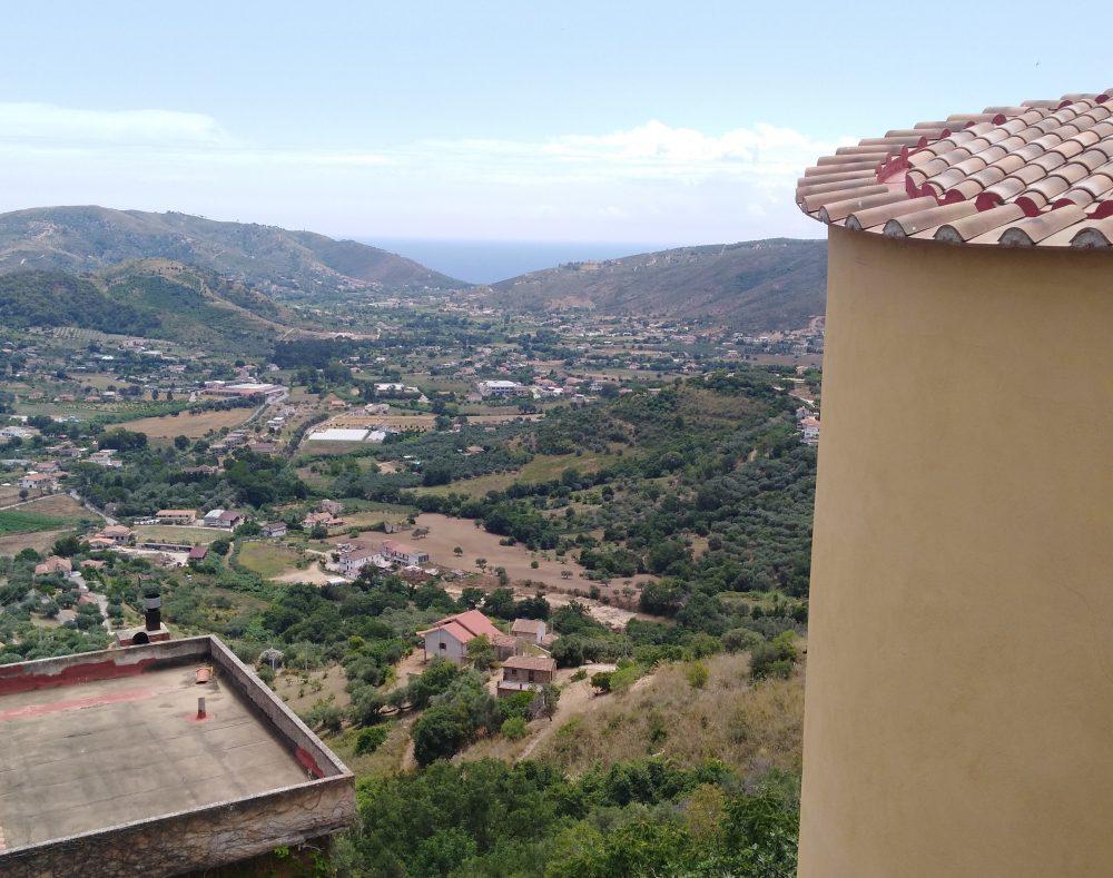 Colline e mare di Castellabate da Palazzo Gentilcore