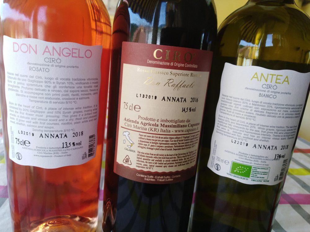 Controetichette vini Baroni Capoano