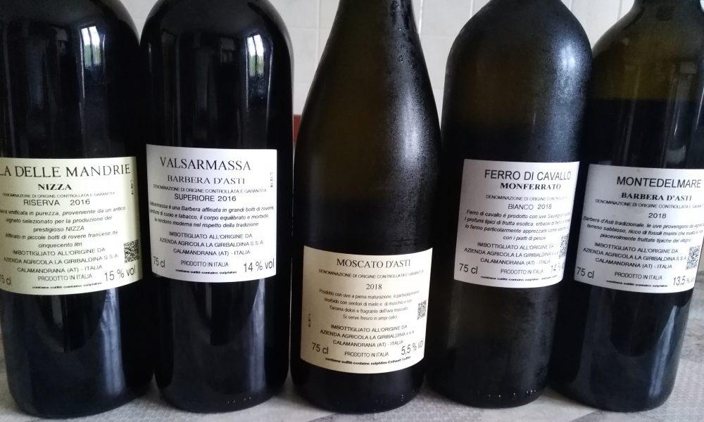 Controetichette vini La Giribaldina
