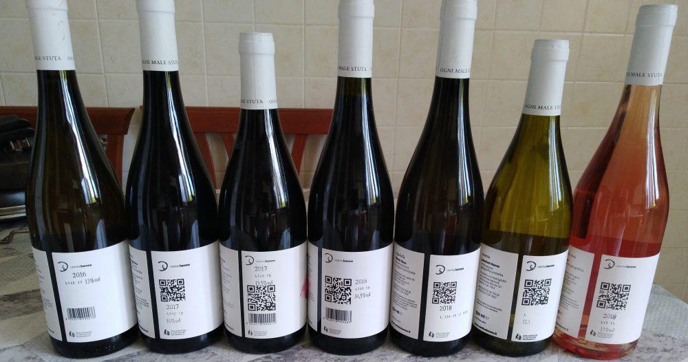Controetichette vini di Barone